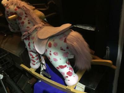 rocking horse and two stick horses