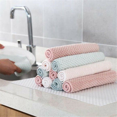 Multicolor Cleaning Glass Rag Kitchen Dish Tea Towel Washing Dishcloth LH