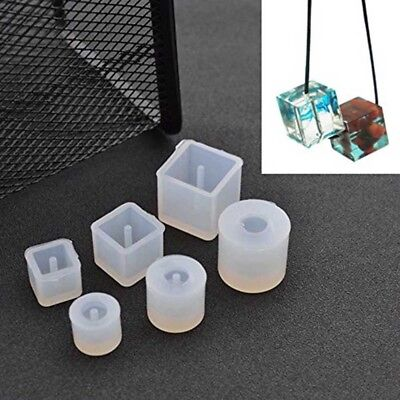 6pcs Round Square Bead Silicone Mold Bracelet Pendant For Jewelry Making Craft