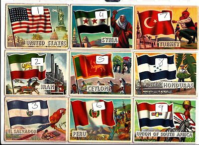 Flags of the World  A&BC Gum LARGE size...................Pick your own 99p each