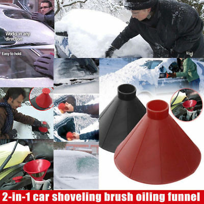 Car Windshield Ice Scraper Tool Cone Shaped Outdoor Round Funnel Remover Snow
