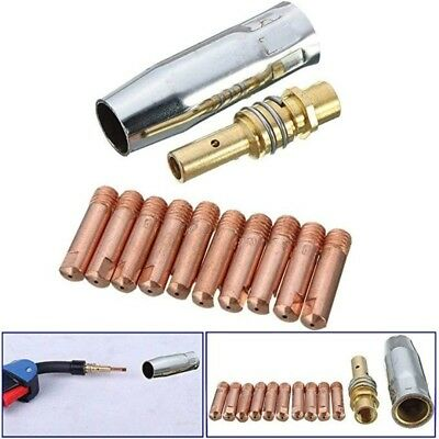 11Pcs Binzel MB-15AK MIG/MAG Welding Torch Accessories Gas Contact Tips 0.8x25mm
