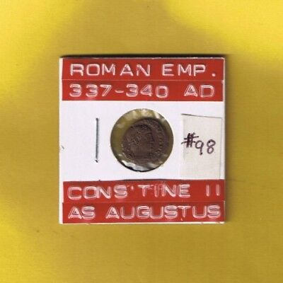 "Ancient Roman Empire coin of ""Constantine II"" as augustus 337-340 AD.. AE4. Rome"