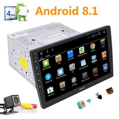 "Android 8.1 Car Stereo Radio GPS 10.1"" Double 2DIN  NoDVD Player 4G WIFI +CAMERA"