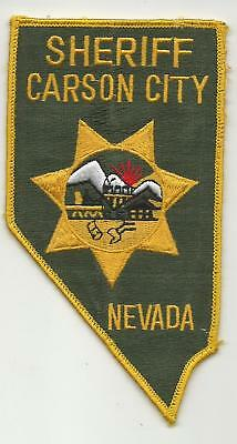 Carson City State Capitol NEVADA Police Sheriff patch OLD fully embroidered