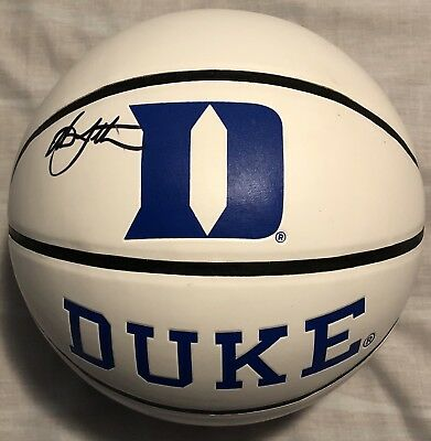 e0a759156f8 Christian Laettner Signed Autographed Duke Blue Devils Logo Basketball  Psa Dna