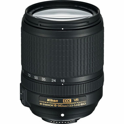 NEW Nikon AF-S DX NIKKOR 18-140mm f/3.5-5.6G ED VR - UK NEXT DAY DELIVERY