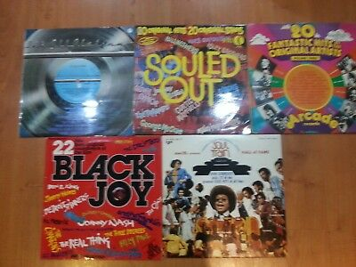 5 x 70s SOUL COMPILATION VINYL LP Soul Train Hall Of Fame, Souled Out, Black Joy