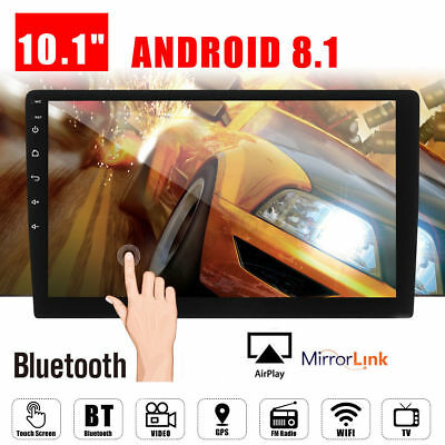 "10.1"" 2 DIN Car Android 8.1 Stereo Radio Player WIFI GPS Navigation Touch Screen"
