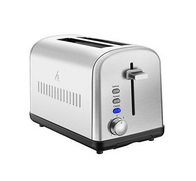 2 Slice Toaster Stainless Steel Electric Vintage Retro Brown Settings Silver USA