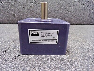 Parallel Gear Box Speed Reducer, 20:1, 23L439 (TS)