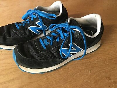 Used Retro classic NEW BALANCE 501 Black Suede blue Running Shoes Men 9.5  ML501 0b93082c67