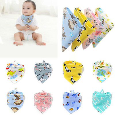 Infant Baby Boys Girls Bandana Cotton Bibs Collar Feeding Saliva Towel Triangle