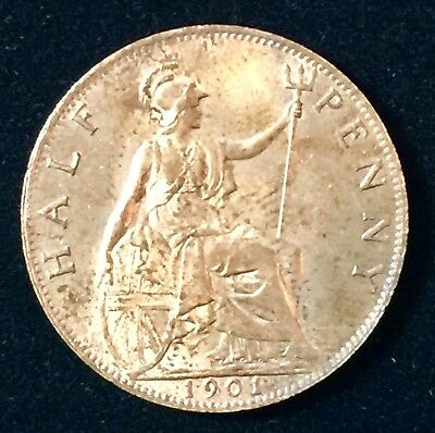 UK Queen Victoria Half Penny- 1903- Pre-decimal- British Coin