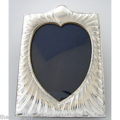 Silver Picture Frame Art Nouveau Style. Hallmarked Sterling Silver Photo Frame