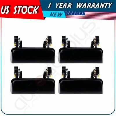 2 Pair Black Door Handles Front Rear Left Right Side for 95-97 Explorer Outside