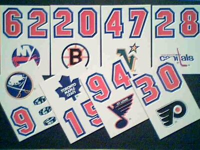 1989-90  Topps Nhl Hockey Teams 8-Sticker Insert Cards Set