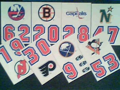 1989-90  Topps Nhl Hockey Teams 8-Sticker Insert Card Set
