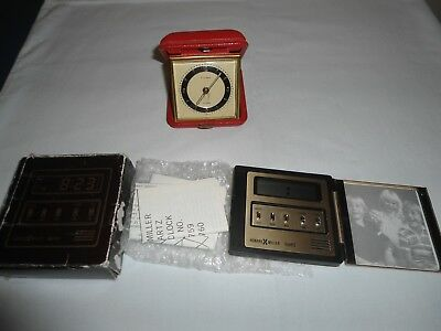 2 Vtg.travel Alarm Clocks,florn And Howard Miller,not Working