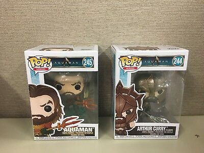Funko Pop Heroes: Aquaman - Set of 2 Aquaman #245 Arthur Curry as Gladiator #244