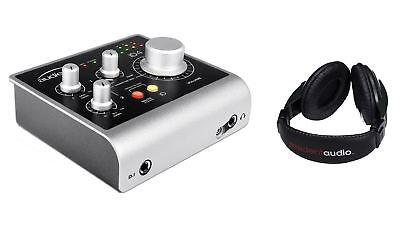 Audient ID4 USB Interface w/ Resident Audio R100 Headphones Bundle Package