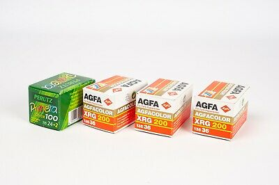 Agfa Agfacolor XRG 200 135 36 ( x3) + Primera color 100 24+2 (x1) EXPIRED