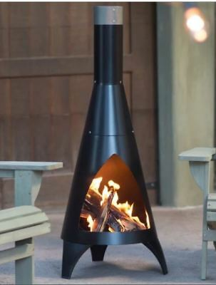 Outdoor Chiminea Fire Pit Wood Burning Patio Fireplace Deck Campfire Steel NEW