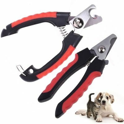 Professional Pet Cat Dog Nail Clipper Cutter Stainless Steel Grooming Scissors