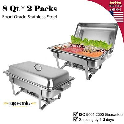 Dish PACK Chafing Chafer Buffet Stainless Catering Steel Sets 8QT Party Pack
