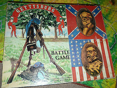 1977 Gettysburg Battle Board Game Usa Civil War Grant Lee Used Map Strategy Fun