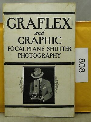 Graflex And Graphic Focal Plane Shutter Photography 1936 Booklet / Catalog