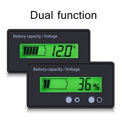 12V-48V Indicator Battery Capacity Voltage Tester LCD Display Lead-acid Monitor