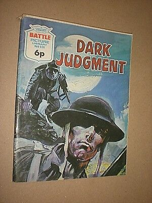 BATTLE PICTURE LIBRARY. DARK JUDGMENT. 1972. No.636 COMIC