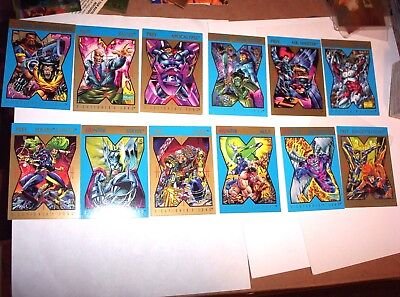 1992 Marvel X-Men X-Cutioner's Song Hunter Prey Promo 12 Card Set! Wolverine!
