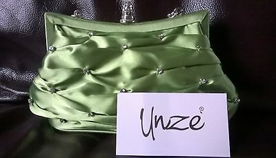 Brand New lime UNZE clutch bag - without tags
