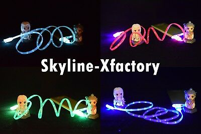 4x 3ft LED Lightning USB Charger Cable Cord For iPhone XS XR 8 7 6S 6 Plus 5s