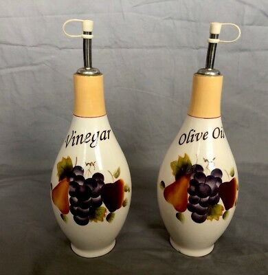 Sonoma Villa Home Interior Set 2 Olive Oil And Vinegar Cruets Dispensers
