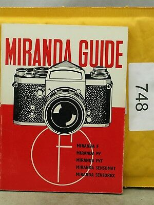 Miranda SLR Guide Published by Focal Press, 1970 75 Pages