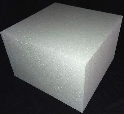 "Styrofoam Block 12"" x 12"" x 8"" EPS Polystyrene Craft Hotwire Foam Square Block"