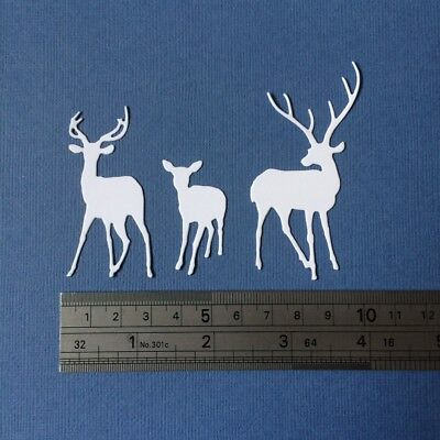 Scrapbooking die cuts - Deer family x 4 sets
