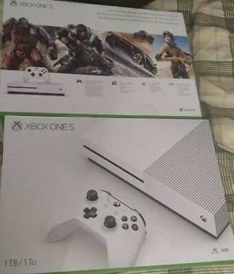 Microsoft Xbox One S 1TB White Gaming Console NEW