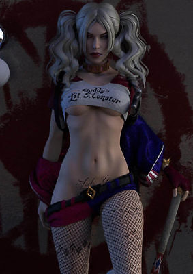 Harley Quinn Fan Suicide Squad Art Silk Poster 8x12 24x36 24x43