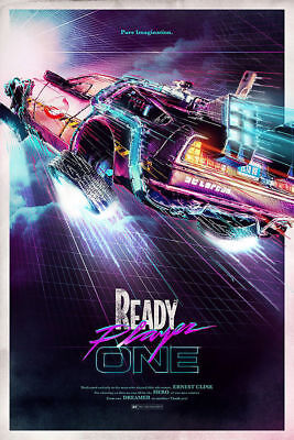 Ready Player One 2018 Back To The Future Movie Art Silk Poster 8x12 24x36 24x43
