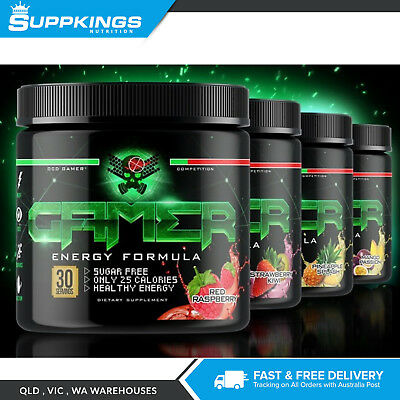 GAMER  Player 2 Pre Workout Focus Energy Supplement - 30 Serves Nootropic Energy