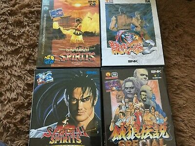 Neo Geo Jpn aes rom bundle (4 games boxed)