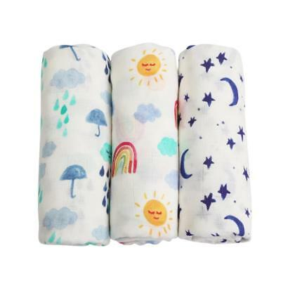 Muslin Bamboo Cotton Newborn Kids Swaddle Baby Soft Blanket Parisarc Wrap Towel