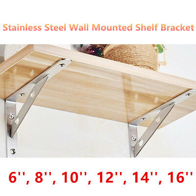 Heavy Duty Metal Book Contertop Wall Shelf Brackets, L Shape 2x Floating Shelves