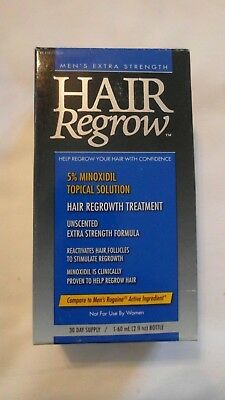Men's Extra Strength Hair Regrow 30 Day Supply 2 Oz Compare To Rogaine