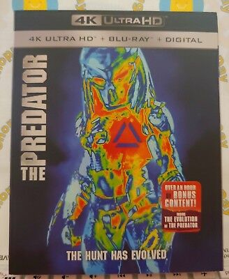 The Predator 2018 4K Uhd/blu-Ray + Digital Hd With Slip Cover Sealed New