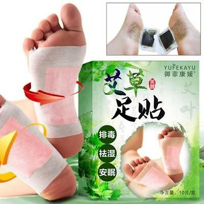 10Pcs Care Wormwood Foot Pads Detoxifying Detox Paste Patches Chinese/Medicine.